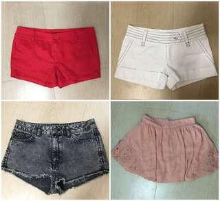 Various branded shorts