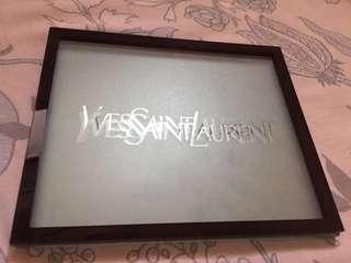YSL家用水果盤大盤毛玻璃