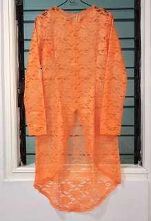 Kebaya Brukat Orange Baru