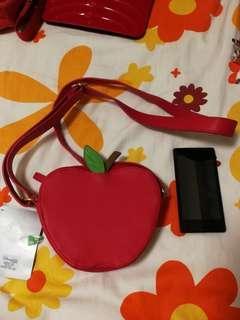 迪士尼~紅蘋果袋