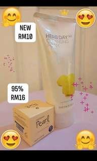 ST Pearl Cream and The face shop Cleanser