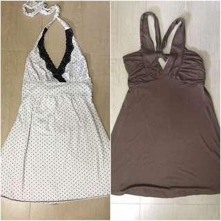 Bundle halter dresses