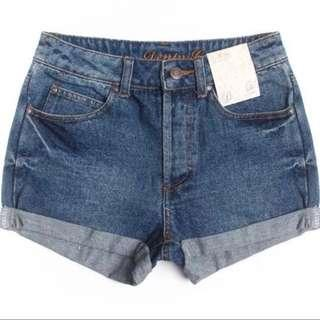 Ready Stock High Waist Denim Jean Shorts