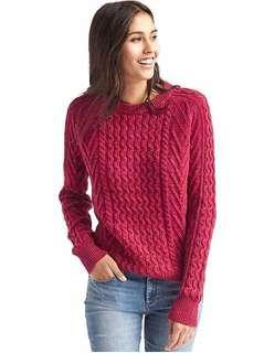 Gap Cable Crew Red Sweater