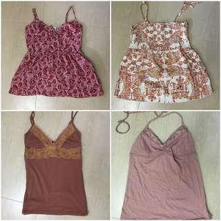 Various branded cute tops