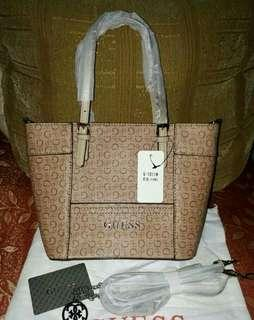 Authentic Overrun Guess Mini Tote with dustbag