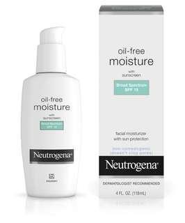 Neutrogena Oil Free Moisture with sunscreen