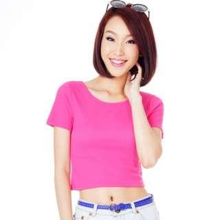 *SALE* TCL Ribbed Tee in Pink
