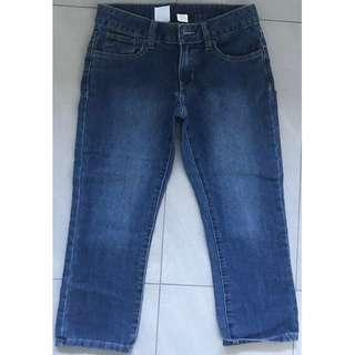 NOW : Woman Blue Denim 3/4 Length Shorts Size 8 - As New Condition