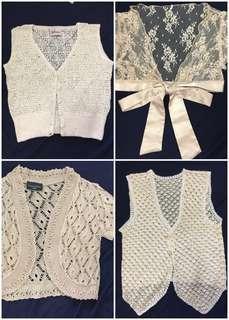 Lace, crochet cardigan, shrug, vest