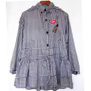 Korean Gingham Paracute Jacket