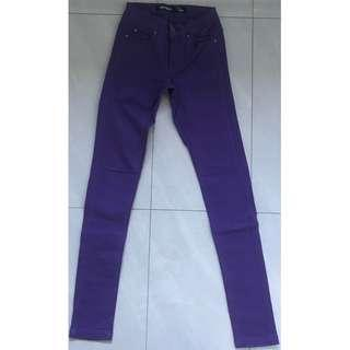 Jay Jays : Woman Purple Skinny Denim Jeans Size 4 - Excellent Condition
