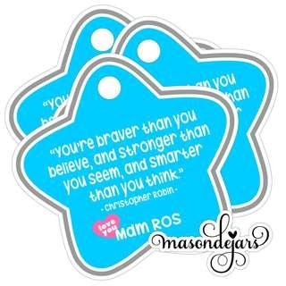 Children Day Hang Tags Sticker Label Customisable Text Quote