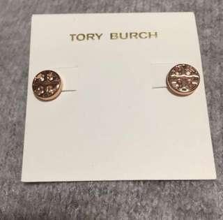 Tory Burch Sample Round Rose Gold 玫瑰金耳環