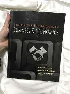 Statistical Techniques in Business