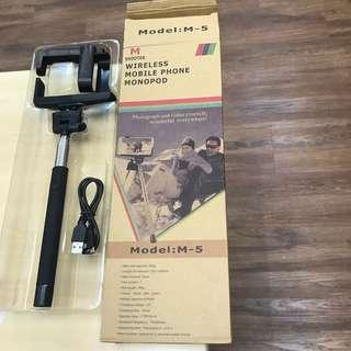 BN M Shooter Wireless Mobile Phone Monopod Selfie Stick