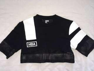 RARE HOOD BY AIR MESH CROP TOP (AUTHENTIC)
