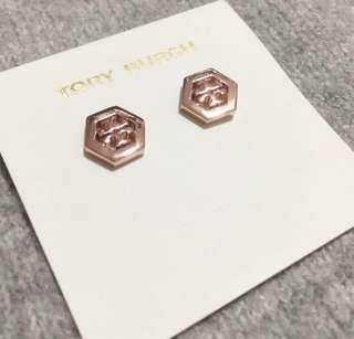 Tory Burch Smple Earrings Rose Gold 玫瑰金色耳環