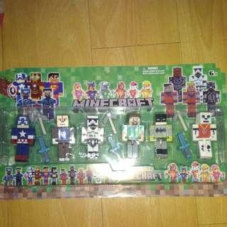 BRANDNEW MINECRAFT SET#2 TOYS COLLECTIBLES with WEAPONS