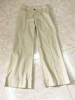 Nude cotton cullotes / palazzo