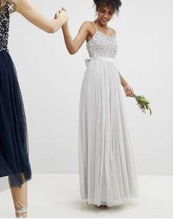 BRAND NEW MAYA SEQUIN TULLE MAXI DRESS