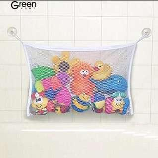 PO Baby Bathroom Toys Mesh Storage Bag Suction Stuff Net