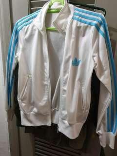 White with Blue Stripes Jacket