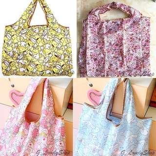 🆕 My Melody Cute Characters Cartoon Waterproof Foldable Tote Bag / Recycle Bag