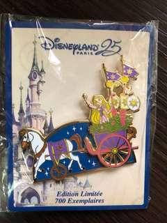 Disneyland Resort Paris pins 法國巴黎迪士尼徽章襟章 DLP 25th anniversary Star on Parade- rapunzel長髮公主 le700 disney pin
