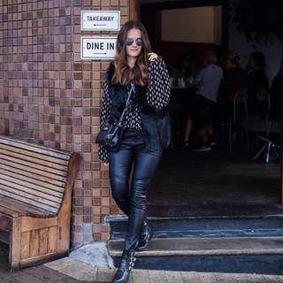 Bohemian Traders Faux Fur Vest Black