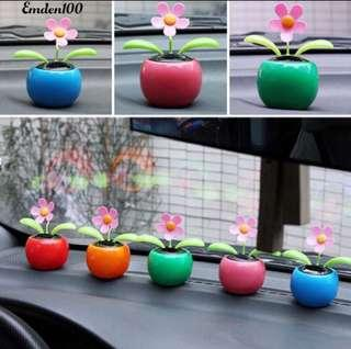 PO Brand New Solar Power Dancing 💃 🕺 Flowers 🌺 Flip Flop Car Desk Display Toy