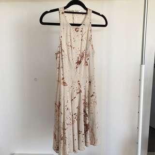 Zimmermann Spilt Coffee Print Dress