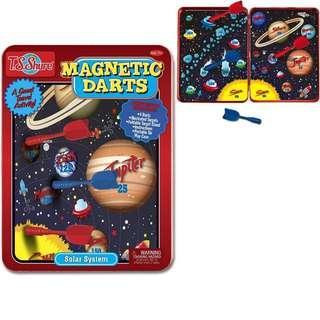 BNIB: T.S. Shure Solar System Magnetic Darts Game Tin