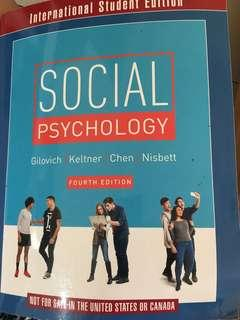 Social psychology 社會心理學