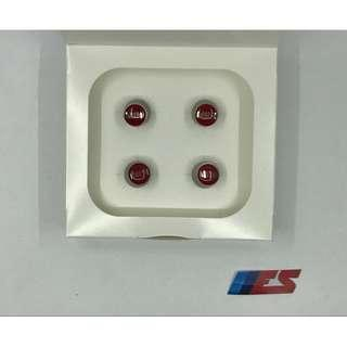 Mini Cooper Air Valve Caps Set (Mini Wordmark Red)