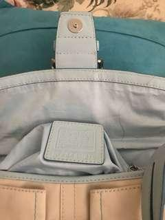 Coach bag good condition except for the few marks
