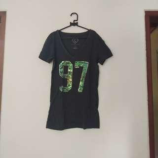 V Neck Girly Grey 97 shirt
