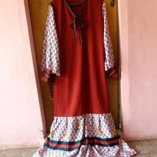 Gamis Merk Gucci Original /long Dress