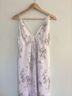 White Floral Strappy Playsuit