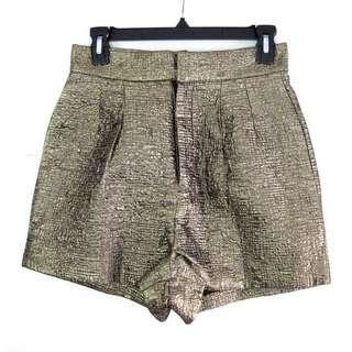 US Highwaist Gold Shorts