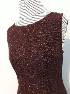 Red Bejeweled Staxs Top