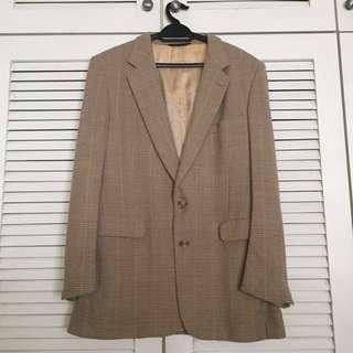 Max Levine Wool Brown Blazer Coat #