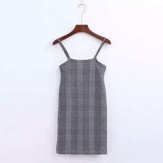 Grid Bodycon Dress