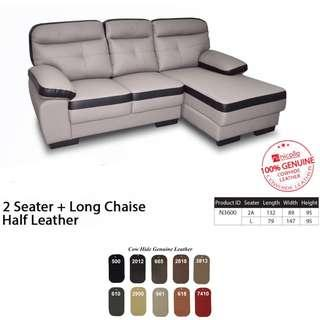 Pocketed Spring leather L shape Sofa ❤️