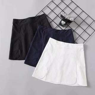 Stripes High Waist Skirt