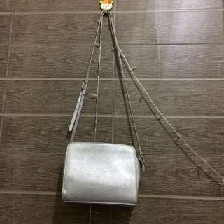 Stradivarius Silver Slingbag