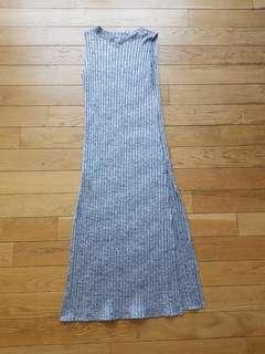 Bkk grey knit stretchable long top