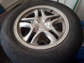 OEM Naza Ria rim with tyre