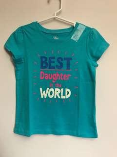 The Children's Place Girls T-shirt (Best Daughter in the World)