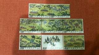 🚚 明人入蹕圖古畫郵票全套8枚
